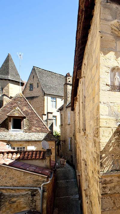 Ruelles médiévales du centre historique de Sarlat